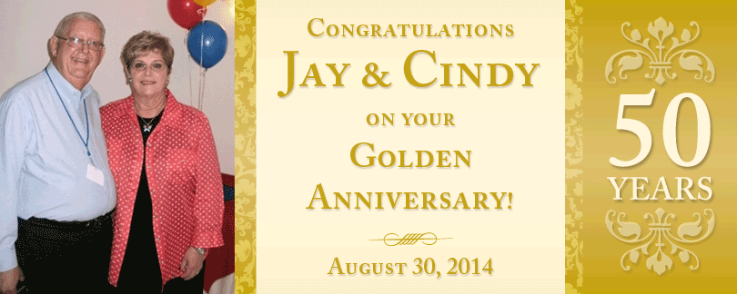Jay and Cindy anniversary banner