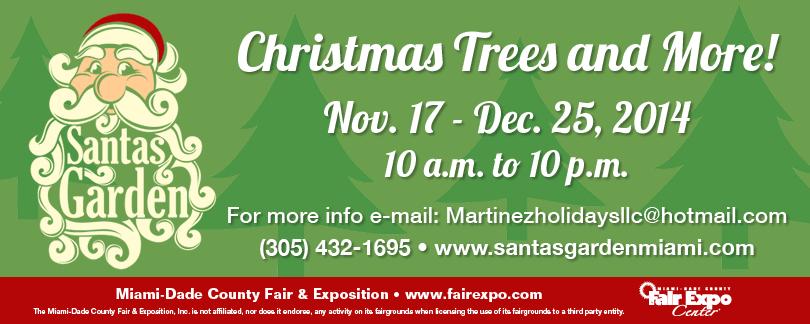 Santas Garden christmas trees 2014